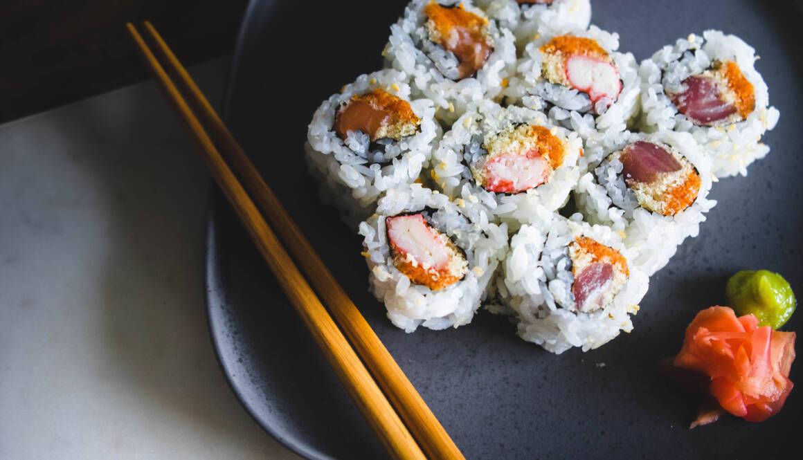 Sushi-på-tallrik