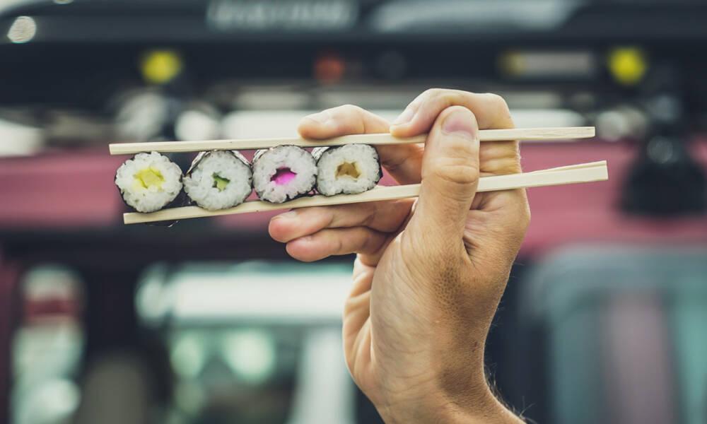 sushi-på-pinne